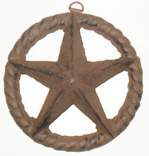 Rustic cast iron WESTERN STAR with Twisted ROPE Wall decor
