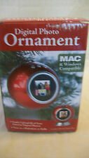DIGITAL PHOTO ORNAMENT, RED, BNIB, HOLDS 60 PHOTOS