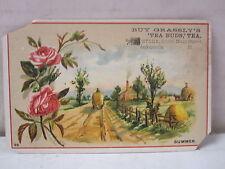 "Vintage Buy Grassly's ""Tea Buds"" Tea Jacksonville, Illinois Trade Card"