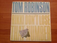 TOM ROBINSON / 1984 Vinyl 45rpm Single / RIKKI DON'T LOSE THAT NUMBER