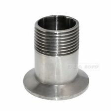 "1"" DN15 Sanitary Male Thread Ferrule Pipe Fitting Tri Clamp SS SUS 316L megairon"