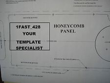 1970 70 FORD MUSTANG MACH 1 REAR HONEYCOMB PANEL TEMPLATE CJ SCJ