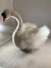 HANSA Toys White SWAN Bird Plush Stuffed Animal Realistic Hand Crafted