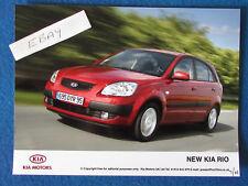 "Original Press Promo Photo - 8""x6"" - KIA - Rio - 2005"