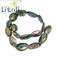 """Natural Abalone Shell  Approx 15x20-15x27mm oval shape Loose Beads Strand 15"""""""