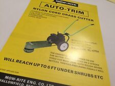 MOW RITE Grass Cutters & Lawn Aerators  Original 1970s Sales Brochure
