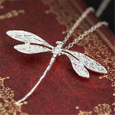 Animal 925 Silver Wedding Dragonfly Necklace Pendant With Chain Jewelry Gift H7