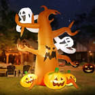 DomKom 8 FT Halloween Inflatable Decorations Spooky Tree with Ghost and Outdoor