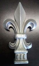 "Lot of 25 Aluminum Fancy Fleur-De-LIs Spears 6 1/8"" tall fits 3/4"" Picket"