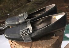 Rockport Women's Black Leather Loafers with Buckle Size 10N US #W1281