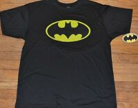 Batman Logo T-Shirt 100% Polyester DC Comics Licensed Tee Athletic Top