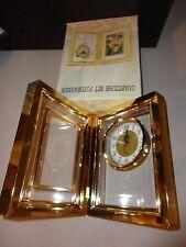 QUARTZUHR MIT FOTORAHMEN GOLDEN BIFOLD CLOCK WITH PHOTO FRAME NEW IN BOX