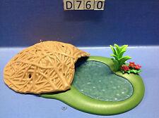 (D760) Playmobil abri pour castors + marre, forêt, zoo, savane