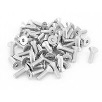 M5x16mm Stainless Steel Hex Socket Flat Head Countersunk Bolts Screw 50Pcs