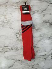 NEW Adidas SOCCER Socks L 9-13 Cushioned Mundial Climalite Socks Red