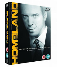 HOMELAND COMPLETE SEASON 1 & 2 BLU RAY COLLECTION UK Release Brand New Sealed R2