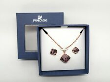 """Authentic Swarovski """"TEMPO"""" Crystal Pendant-Earring Set Rose Gold New in Box"""