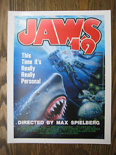 """Back to the Future 2 - JAWS 19  Poster Print - 8.5"""" x 11""""  B2G1F"""