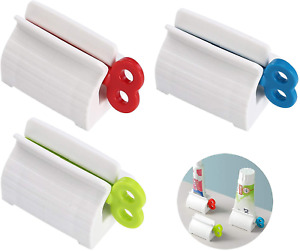 3 Pcs Rolling Tube Toothpaste Squeezer Dispenser Toothpaste Holder Stand