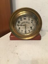 Rare Antique Early Ships Bell Maritime Clock 3 South St New York Ny Incomplete