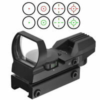 11mm Holographic Red Green Dot Sight Reflex 4 Reticle Tactical Scope new New