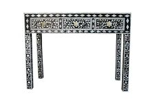 Mother of Pearl furniture Console Table Black & White Floral Design Table