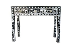 MOP Sell Console Table Black & White Floral Design Table