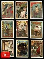 Art Nouveau trades c.1900 chromo trade cards lot x 23 Reaumur store Paris