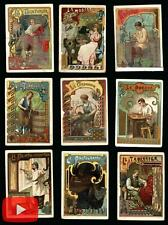 Art Nouveau trades c.1900 chromo trade cards lot x 23 Reaumur store Paris