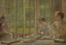 AMERICAN SCHOOL , (19th Century), Reading on a Sunny Afternoon, oil o... Lot 211