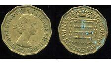 GREAT BRITAIN - ROYAUME UNI   three pence 1954   ( etat )
