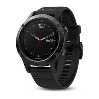 GARMIN Fenix 5 Saphir- Smartwatch- Schwarz/Schwarz + gelbes Armband UVP: 599,99€
