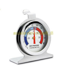Useful Temperature Refrigerator Freezer Dial Type Thermometer Stainless Steel AU