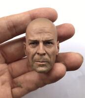 """Custom 1/6 Die Hard Bruce Willis HeadSculpt fit 12"""" Male figure body"""