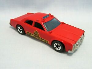 VINTAGE HOT WHEELS - 1977 FIRE CHIEF CAR #5 - RED - MADE IN HONG KONG