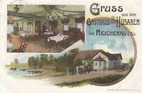 #248 - AK Gruss aus dem Gasthaus zum Husaren bei Reichenau in Sa., Litho 1907