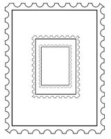 Set of 3 Postage Frames Unmounted Rubber Stamps by Stamp Addicts