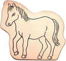 Frühstücksbrett Frühstücksbrettchen Kinderbrettchen in Tierform Motiv: Pferd