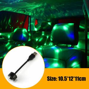 Mini USB Colorful DJ Disco Ball Party Bar Car Atmospher Light Sound Accessories