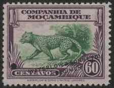 Mozambique Co. 1937 60c Leopard Waterlow color sample in green & purple