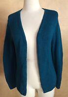 INC International Concepts Blue Rayon Cotton Blend Open Front Sweater Medium