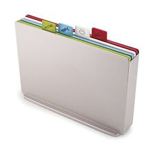Joseph Joseph 60134 Large Index Plastic Cutting Board Set W Storage Case, Silver