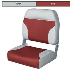 Wise Boat Seats Big Man Fold Down Fishing Seat - Grey/Red