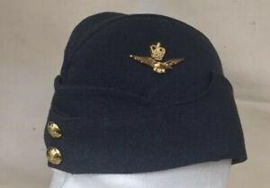 Regulation RAF Officers Side Cap 59 cm size / Side Hat Red Lining with velvet