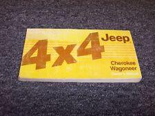 1988 Jeep Cherokee & Wagoneer Owner Owner's Operator Manual Pioneer Chief Laredo