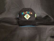 "CAO BRAZILIA/ITALIA ""BRATALIA"" CIGAR BRAND EMBROIDERED ADJUSTABLE CIGAR CAP HAT"