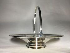 Graff Washbourne Dunn Marked Sterling Silver Footed Serving Dish Basket Compote
