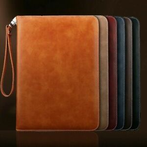 Genuine Luxury Leather Case Cover for iPad 8th 7th Gen 6th 5th Air Mini 2345 Pro