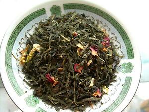 Tea Sencha Green Cherry, Rose Petals & Jasmine Flowers Asian Blend Pure Natural