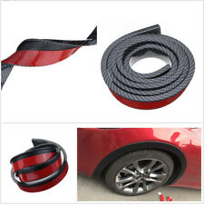 2 X Black Carbon Fibre Color 3.8cm/1.5M Car Fender Flare Wheels Eyebrow Trim Lip